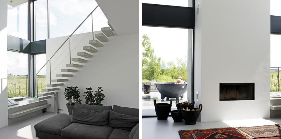 Minimalistisch interieur villa zwaanshoek archstudio for Interieur villa moderne