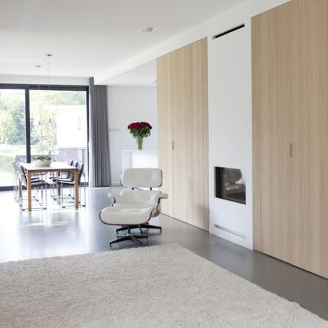Projecten archstudio architecten for Villa interieur moderne