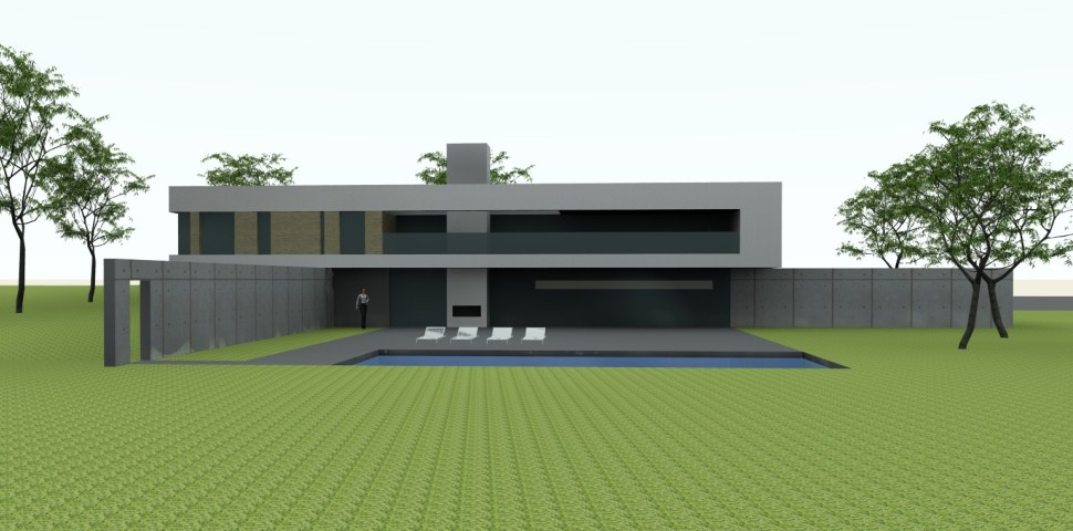 Ontwerp moderne villa zwaanshoek archstudio architecten for Villa moderne 2016